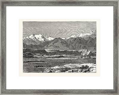 View Of Yangi Hissar Framed Print by English School