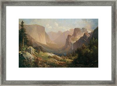 View Of Yosemite Valley Framed Print by Thomas Hill