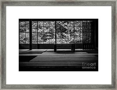 View On And Old Temple Garden Framed Print by Dean Harte