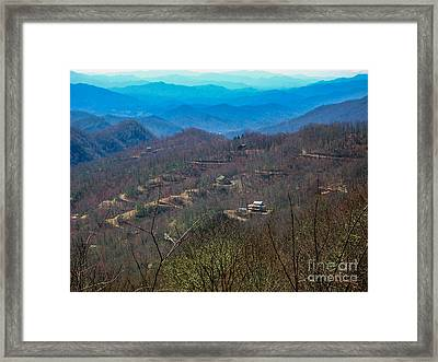 View On Blue Ridge Parkway Framed Print by Randi Shenkman