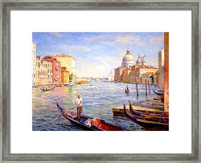 View On Della Salute Framed Print