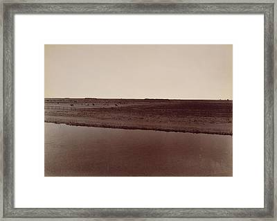 View On The Calloway Canal, Near Poso Creek Framed Print