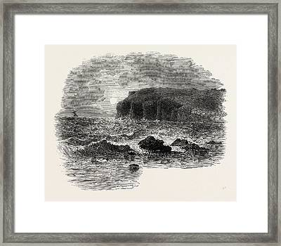 View On The Coast Of Maine, United States Of America Framed Print by American School