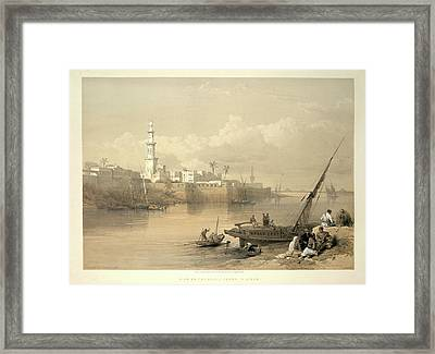View On The Nile Framed Print by British Library
