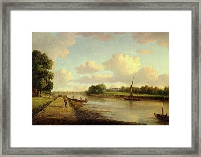 View On The River Thames At Richmond View On The River Framed Print by Litz Collection