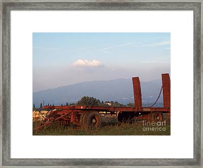 View On Vallombrosa Framed Print