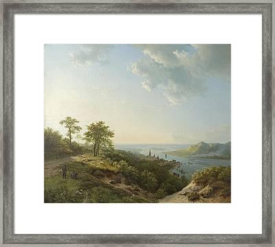 View Over Heidelberg, 1837 Framed Print by Barend Cornelis Koekkoek