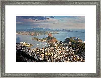 View Over Sugarloaf Mountain Framed Print by Peter Adams