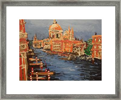 View Over The Canal Framed Print by Paul Benson