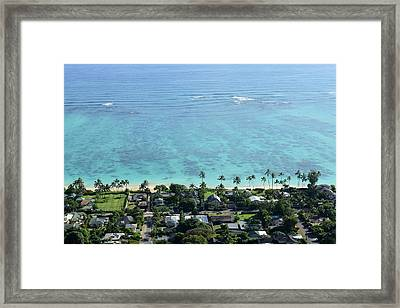 View Overlooking The Coastline Framed Print by Stocktrek Images
