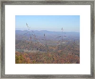 View Past Lover's Leap Framed Print by Angelia Hodges Clay
