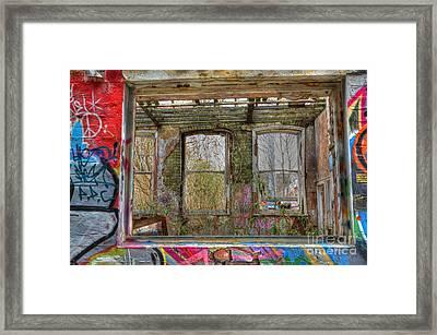 View Through A Window Framed Print by David Birchall