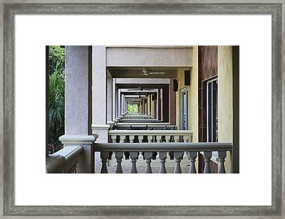 View Through Balconys Framed Print
