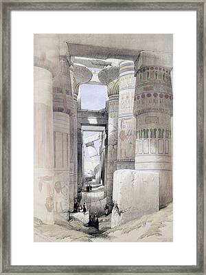 View Through The Hall Of Columns Framed Print by David Roberts