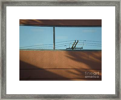 View To A Power Line Framed Print