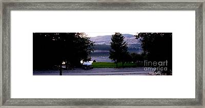 View To Columbia Framed Print by Greg Patzer