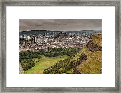 Framed Print featuring the photograph View To Edinburgh by Sergey Simanovsky