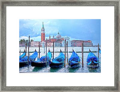 View To San Giorgio Maggiore Framed Print by Heiko Koehrer-Wagner