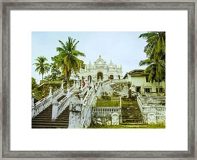 view to the Dodanduwa Temple Framed Print by Gina Koch