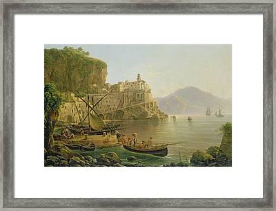 View Towards Atrani On The Amalfi Framed Print