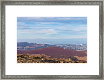 View Towards Bray And Dublin From Djouce Summit Framed Print by Semmick Photo