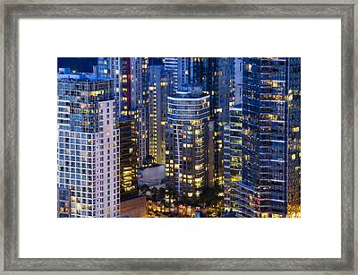 Framed Print featuring the photograph View Towards Coal Harbor Vancouver Mdxxvii  by Amyn Nasser