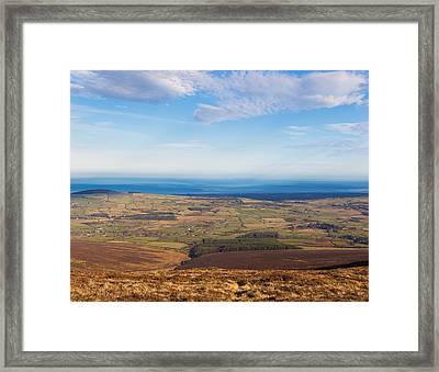 View Towards Greystones From Djouce Mountain Framed Print by Semmick Photo