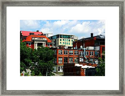 View Towards Lexington Avenue In Asheville Framed Print by Utopia Concepts