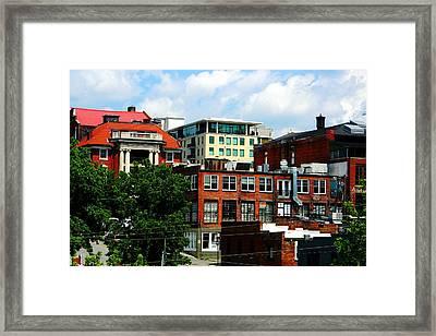 View Towards Lexington Avenue In Asheville Framed Print