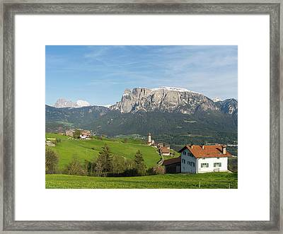 View Towards The Seiser Alm, Seen Framed Print by Martin Zwick
