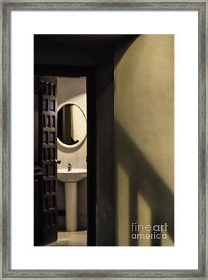 View Under Stairs Framed Print by Margie Hurwich
