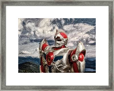 View Wth A Robot Framed Print by Jeff  Gettis