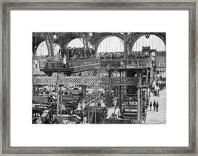 Viewing Platform, 1889 Paris Expo Framed Print