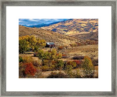Viewing The Old Barn Framed Print by Robert Bales