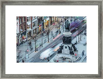 Viewpoint Over Oconnell Street, Dublin Framed Print by David Soanes Photography