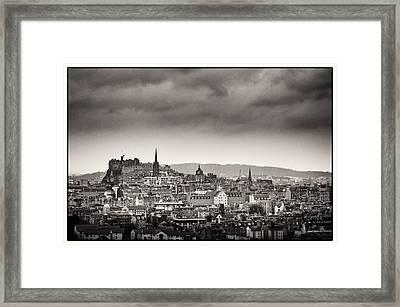 Views Across Edinburgh Framed Print by Lenny Carter