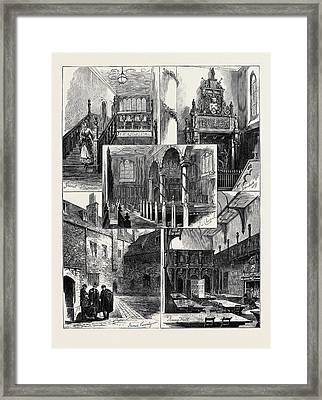 Views At The Charter House Framed Print