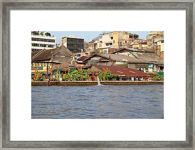 Views From A River Boat Taxi In Bangkok Thailand - 011327 Framed Print by DC Photographer