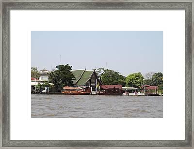 Views From A River Boat Taxi In Bangkok Thailand - 01139 Framed Print