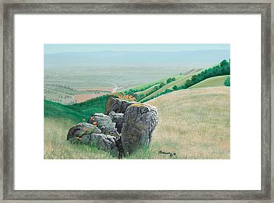 Views From Canada De Los Osos #1 Framed Print