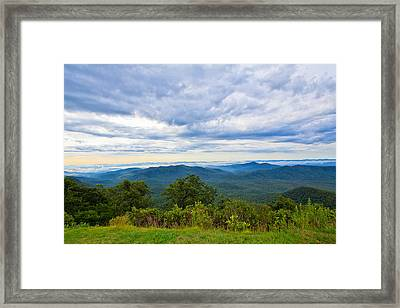 Views From The Blue Ridge Parkway Framed Print by Mela Luna