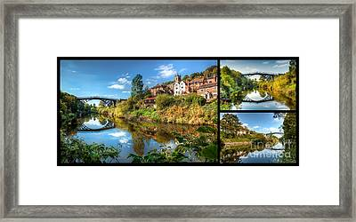 Views Of Ironbridge Framed Print by Adrian Evans