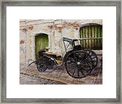 Framed Print featuring the painting Vigan Carriage 2 by Joey Agbayani
