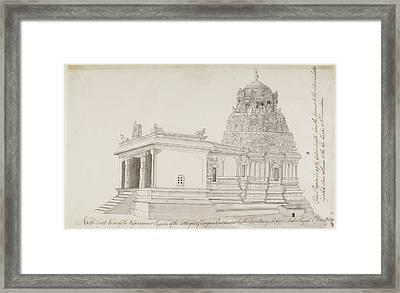 Vighnesvara Temple In Tanjore Framed Print