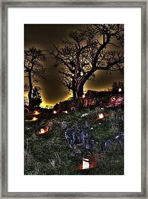 Vigil - Antietam National Battlefield Memorial Illumination 2011 Framed Print by Michael Mazaika