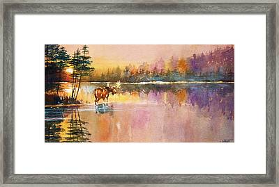 Framed Print featuring the painting Vigil In The Shallows by Al Brown
