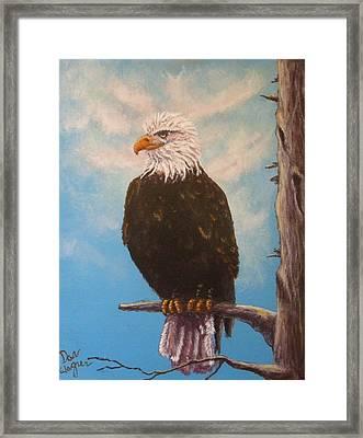 Vigilant Eagle Framed Print