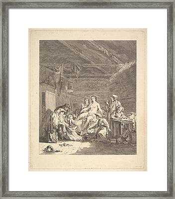 Vignette Of The First Volume, Page 165 Framed Print by Augustin de Saint-Aubin