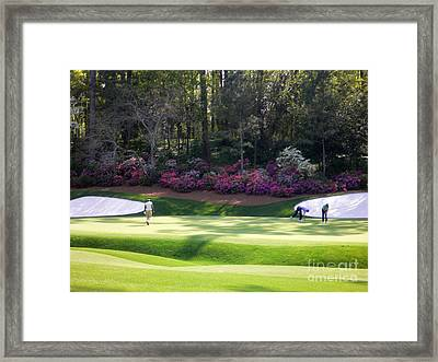 Vijay At Augusta Framed Print by David Bearden