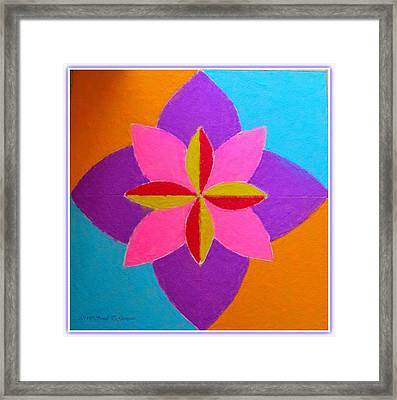 Vijayadashmi Decorative Rangoli Framed Print by Sonali Gangane